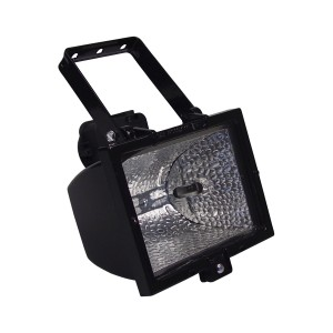 Halogen Fixture 1500W R7s, black IP44